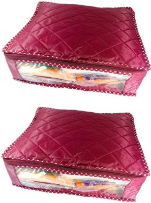 Addyz Plain Pack of 2 Saree Cover
