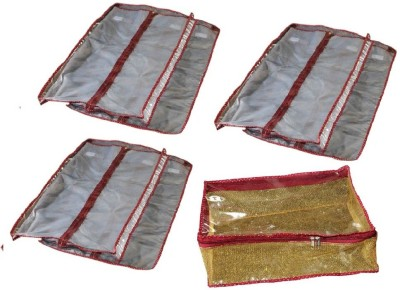 Srajanaa Hanging Saree Cover Wardrobe Organiser - Set Of 6 + Peticoat cover free SR-170(Multicolor)