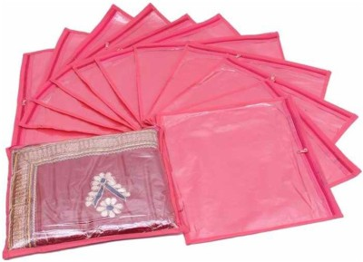 Fashion Bizz REGULAR Saree Cover 12- Pcs Pink