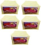 Addyz Plain Set of 5 Pieces Large Saree ...
