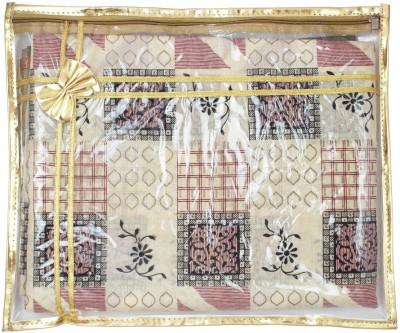 Mpkart Saree Bag Mpkart Golden Pack of 6 Saree Cover Zip Synthetic Golden Medium Utility Bag CM27