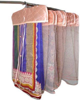 Addyz Plain 6Net Saree Cover For Heavy Sarees Peach Wardrobe Organize