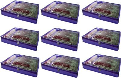 Addyz Pack of 9 Non woven 2 inch Height Saree Cover Gift Organizer