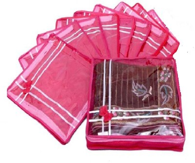 Addyz Plain Two inches pack of nine saree salwar cloths cover keep 2 saree storage organizers cases