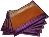 Addyz Plain 5 Pcs Frill Single Saree Cov...