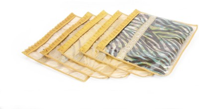 Speak Homes Saree,Dress Cover Luxurious Golden Tissue Frill (Pack Of 5) Spkh103sc12