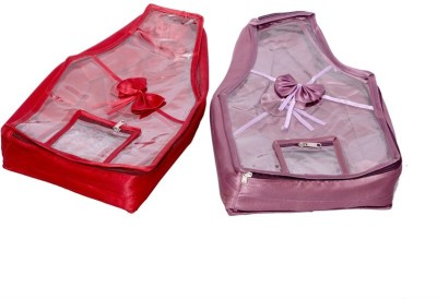 Kuber Industries Blouse Cover in Quilted Satin Fabric Set of 2 Pcs(Multicolor)