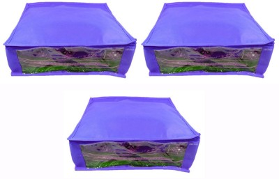 Abhinidi Non-Woven Multipurpose Saree Cover 3PC Capacity5-6 Units Each