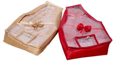 Kuber Industries Blouse Cover in Quilted Satin Fabric Set of 2 Pcs