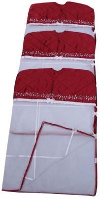 Fashion Bizz Designer Satin Hanging Saree Cover Set Of 3 Pcs Combo FB