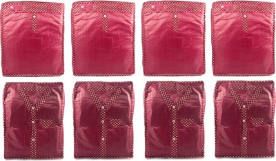 Annapurna Sales Designer Shirt/T-shirt and Pant/Jeans/Trouser Covers - Set of 8 Pcs Maroon00147