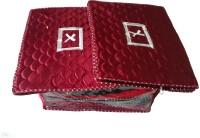 Indi Bargain Plain Combo of 3 Heavy Multi Saree Cover(Red)