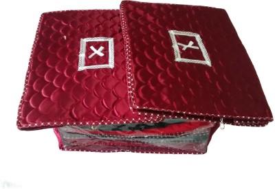 Indi Bargain Plain Combo of 3 Heavy Multi Saree Cover