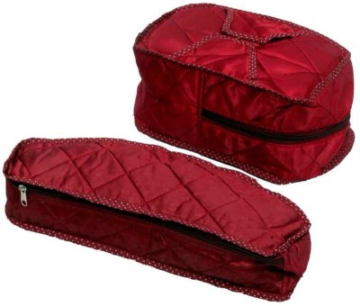 Kuber Industries Designer Shoe Cover & Socks Cover in Heavy Quilted Satin Set of 2 Pcs MKUSC159