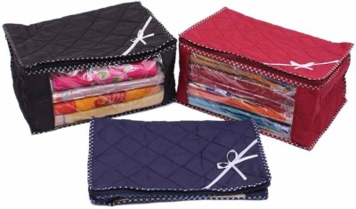 Kuber Industries Designer Quilted Saree Cover 3 pcs combo MKU73033