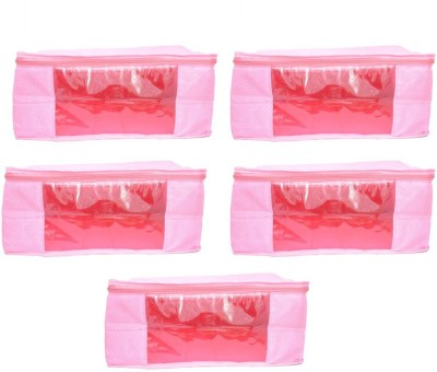 Mun Shree Designer Pink Doth 5 Saree Cover Box(Pack Of 5) MS-07