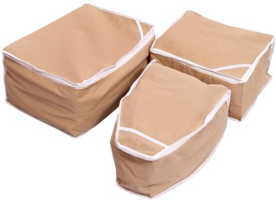 Kuber Industries Saree Cover, Blouse Cover, Peticot Cover Set of 3 Pcs (Non Woven)