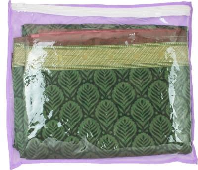 Mpkart Saree Bag Mpkart Purple Pack of 6 Saree Cover Zip Synthetic Purple Medium Utility Bag CM30