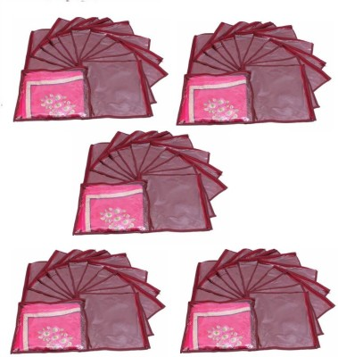 Addyz Plain Pack Of 60 Saree Cover Keep 1 each