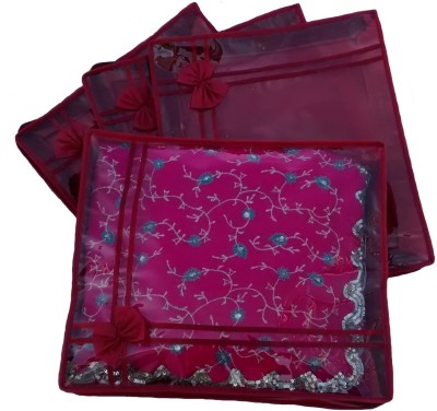 Indi Bargain Non Woven Designer Saree Cover Set of 4