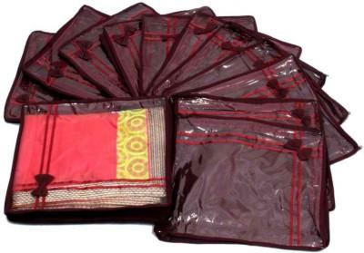 Kuber Industries Designer Saree Cover Non Wooven Material 12 Pcs Set MKUSC146