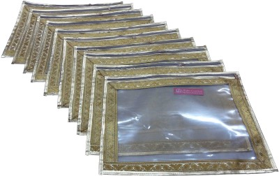 Ruhi's Creations Designer Saree Cover (Zari Border)- Golden 7006