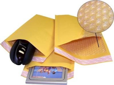 Alpine Plastics Kraft Envelopes Pack of 100 Tough Brown Bubble Mailers 6 X 6 inch KRA66