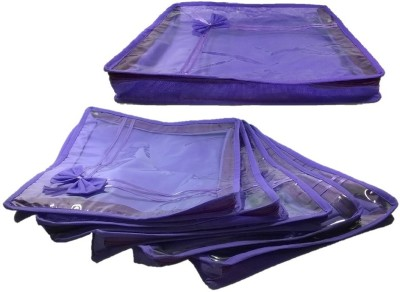 Addyz Pack of 6 Non Woven 2 inch Height Saree Cover Gift Organizer