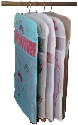 Indi Bargain Kota Doria combo of 5 Floral Single Saree Cover