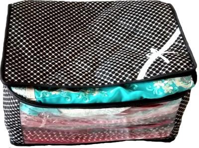 Indi Bargain Printed Black Printed multi saree cover