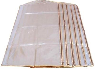 Kuber Industries Designer Full Length Suit Cover Transparent Net Set of 6 Pcs MKUSC168