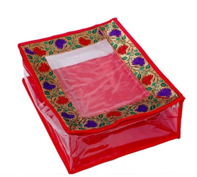 Kuber Industries Quilted Transparent Saree Cover