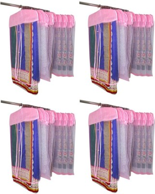 Addyz Plain Pack Of 48 Net Saree Cover Wardrobe Organize