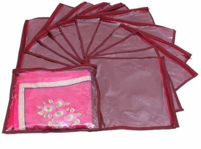 Addyz Plain Pack Of 12 Saree Cover Keep 1 each
