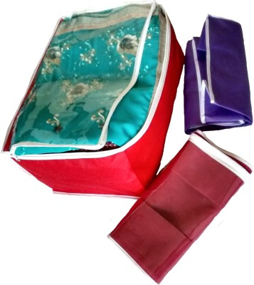 Indi Bargain Plain Transparent Combo Saree Cover Multi Saree Cover