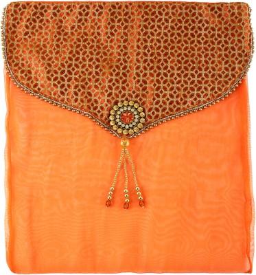 Art Horizons Designer Saree Covers in Orange Made From Tissue & Brocate AHSCFOG01