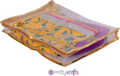 PRETTY KRAFTS B1107_Golden Lehanga sari cover B1107