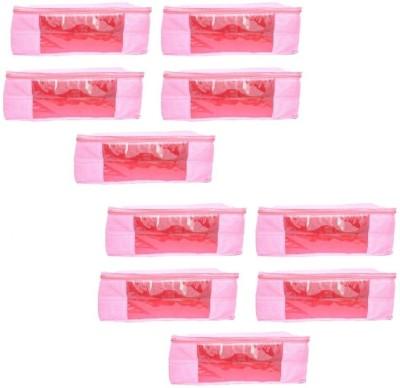 Mun Shree Designer Pink Doth 5 Saree Cover Box(Pack Of 10) MS-08