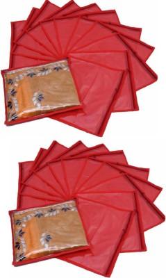 Fashion Bizz Regular Red Saree Cover 24 Pcs Combo
