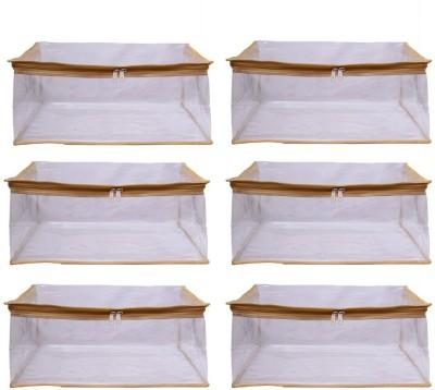 Mun Shree Designer Full Transparant Heavy 5 Pcs Saree Cover(Pack Of 6) MS-16