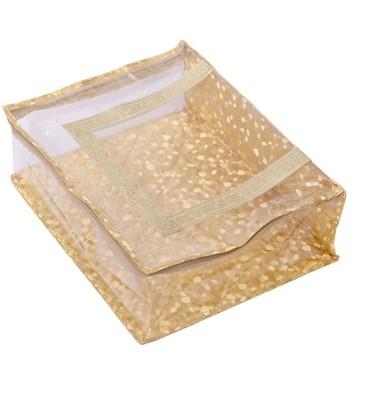Kuber Industries Designer Quilted Transparent Saree Cover