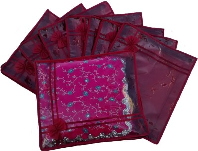Indi Bargain Designer Maroon set of 8 transparent double saree cover