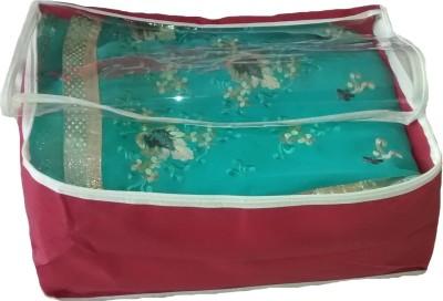 Indi Bargain Plain Transparent Mareeon Saree Cover Multi Saree Cover