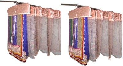 Addyz Plain Pack Of 24 Net Saree Cover Wardrobe Organize