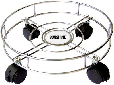 Sunshine Stainless Steel Grill Gas Cylinder Trolley