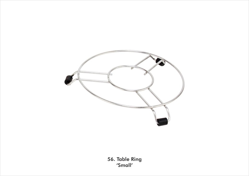 Nalini Table Ring Small Gas Cylinder Trolley(Silver, Black)
