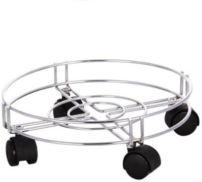 OMRD Gas Cylinder Trolley(Silver, Pack of 1)