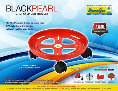 Black Pearl Plt-Trolly Gas Cylinder Trolley