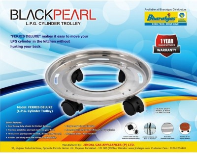 Black Pearl Gas Cylinder Trolley