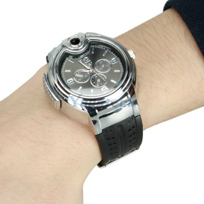 Soy Impulse Watch Stylish Stainless Steel Gas Lighter
